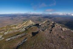 Τοπίο βουνών σε Pena το Francia, διάσημος προορισμός σε Σαλαμάνκα, Ισπανία στοκ εικόνα