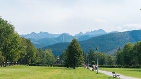 Τοπίο βουνών σε Zakopane Στοκ εικόνες με δικαίωμα ελεύθερης χρήσης