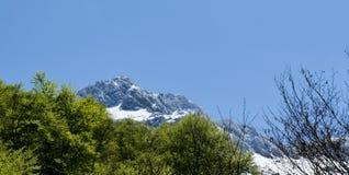 Τοπίο βουνών στα Πυρηναία, Γαλλία Στοκ Φωτογραφίες