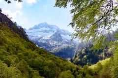 Τοπίο βουνών στα Πυρηναία, Γαλλία Στοκ εικόνα με δικαίωμα ελεύθερης χρήσης