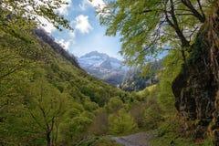 Τοπίο βουνών στα Πυρηναία, Γαλλία Στοκ Εικόνες