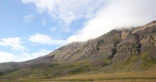 Τοπίο βουνών στην Ισλανδία Στοκ Εικόνες