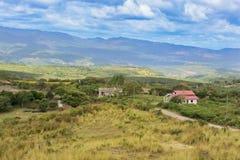 Τοπίο βουνών στην κεντρική Ονδούρα κοντά στο χωριό Coa Arri Στοκ εικόνες με δικαίωμα ελεύθερης χρήσης