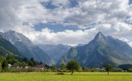 Τοπίο βουνών στη Σλοβενία Στοκ Εικόνες