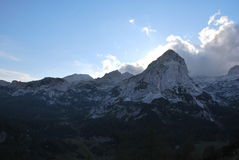 Τοπίο βουνών στη Σλοβενία Στοκ Φωτογραφίες