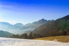 Τοπίο βουνών στο Tirol, Αυστρία Στοκ Εικόνες