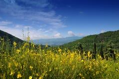 τοπίο βουνών της Ιταλίας Στοκ Φωτογραφία