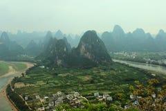 Τοπίο βουνών της Κίνας Στοκ Εικόνα