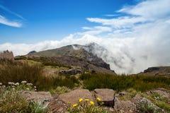 Τοπίο βουνών της Μαδέρας, Pico do Arieiro Στοκ Φωτογραφία