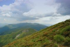 Τοπίο βουνών της Ουκρανίας Στοκ Φωτογραφία