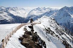Τοπίο βουνών των αυστριακών Άλπεων Στοκ Εικόνες