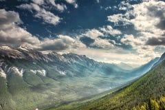 Τοπίο βουνών, Canadian Rockies Στοκ Εικόνες