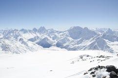 Τοπίο βουνών, Elbrus Στοκ Φωτογραφίες