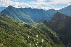 Τοπίο βουνών Picchu Machu Στοκ Εικόνα