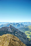 Τοπίο βουνών Saentis Στοκ Εικόνες