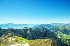 Τοπίο βουνών Saentis Στοκ φωτογραφίες με δικαίωμα ελεύθερης χρήσης