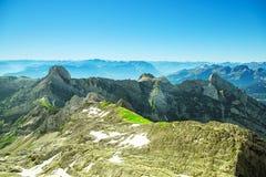 Τοπίο βουνών Saentis Στοκ Φωτογραφία