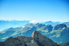 Τοπίο βουνών Saentis Στοκ εικόνα με δικαίωμα ελεύθερης χρήσης