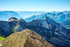 Τοπίο βουνών Saentis Στοκ φωτογραφία με δικαίωμα ελεύθερης χρήσης