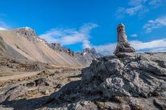 Τοπίο βουνών Vesturhorn σημείο της Ισλανδίας Στοκ φωτογραφία με δικαίωμα ελεύθερης χρήσης