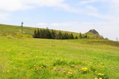 Τοπίο γαλλικό Auvergne Massif du Sancy στοκ εικόνα με δικαίωμα ελεύθερης χρήσης