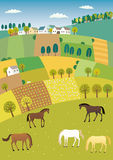 τοπίο γεωργίας Στοκ φωτογραφία με δικαίωμα ελεύθερης χρήσης