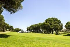 Τοπίο γηπέδων του γκολφ του Αλγκάρβε, διάσημοι γκολφ και προορισμός φύσης στοκ εικόνες