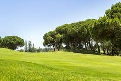 Τοπίο γηπέδων του γκολφ του Αλγκάρβε, διάσημοι γκολφ και προορισμός φύσης στοκ φωτογραφίες