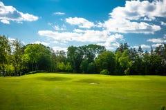 Τοπίο γηπέδων του γκολφ στοκ εικόνες