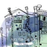Τοπίο γραμμών πόλεων Στοκ εικόνες με δικαίωμα ελεύθερης χρήσης