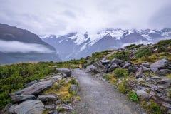 Τοπίο γύρω από την ΑΜ Μάγειρας/εθνικό πάρκο Aoraki, Νέα Ζηλανδία Στοκ Εικόνες