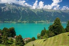 Τοπίο γύρω από τη λίμνη Brienz της περιοχής Jungfrau, της Ελβετίας Στοκ Εικόνες