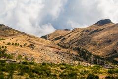 Τοπίο γύρω από Pico do Arieiro, νησί της Μαδέρας, Πορτογαλία Στοκ φωτογραφία με δικαίωμα ελεύθερης χρήσης