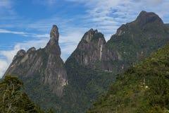 Τοπίο δάχτυλων Θεών ` s, κρατικά βουνά Ρίο ντε Τζανέιρο Τοποθετημένος κοντά στην πόλη Teresopolis, Βραζιλία, Νότια Αμερική στοκ εικόνες