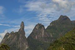 Τοπίο δάχτυλων Θεών ` s, κρατικά βουνά Ρίο ντε Τζανέιρο Τοποθετημένος κοντά στην πόλη Teresopolis, Βραζιλία, Νότια Αμερική στοκ φωτογραφία