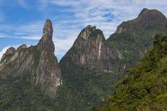 Τοπίο δάχτυλων Θεών ` s, κρατικά βουνά Ρίο ντε Τζανέιρο Τοποθετημένος κοντά στην πόλη Teresopolis, Βραζιλία, Νότια Αμερική στοκ φωτογραφίες με δικαίωμα ελεύθερης χρήσης