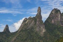 Τοπίο δάχτυλων Θεών ` s, κρατικά βουνά Ρίο ντε Τζανέιρο Τοποθετημένος κοντά στην πόλη Teresopolis, Βραζιλία, Νότια Αμερική στοκ εικόνες με δικαίωμα ελεύθερης χρήσης