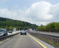 Τοπίο εθνικών οδών στη νότια Γερμανία Στοκ Εικόνες