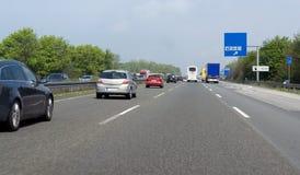 Τοπίο εθνικών οδών στη νότια Γερμανία Στοκ Φωτογραφία