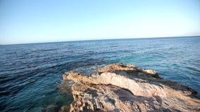 Τοπίο Ελλάδα θάλασσας απόθεμα βίντεο