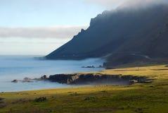 Τοπίο επαρχίας στο ηλιοβασίλεμα, Ισλανδία Στοκ φωτογραφίες με δικαίωμα ελεύθερης χρήσης
