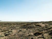 Τοπίο ερήμων, Lanzarotte, Κανάρια νησιά στοκ εικόνα