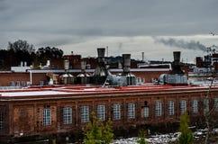 Τοπίο εργοστασίων Στοκ εικόνες με δικαίωμα ελεύθερης χρήσης