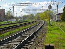 Τοπίο ζώνης σιδηροδρόμου στοκ εικόνες