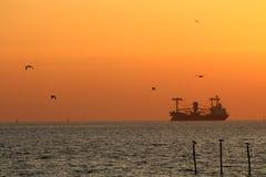 Τοπίο ηλιοβασιλέματος Στοκ φωτογραφίες με δικαίωμα ελεύθερης χρήσης