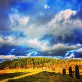 τοπίο ημέρας ηλιόλουστο Στοκ εικόνα με δικαίωμα ελεύθερης χρήσης