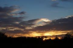 Τοπίο, ηλιόλουστη αυγή σε έναν τομέα Στοκ φωτογραφίες με δικαίωμα ελεύθερης χρήσης