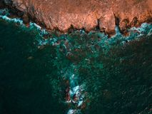 Τοπίο θάλασσας από την άποψη πουλιών στοκ εικόνα