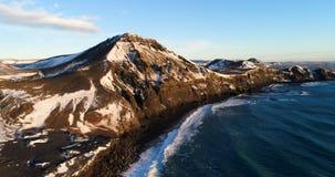 Τοπίο θάλασσας κατά την εναέρια άποψη απόθεμα βίντεο