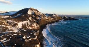 Τοπίο θάλασσας κατά την εναέρια άποψη φιλμ μικρού μήκους